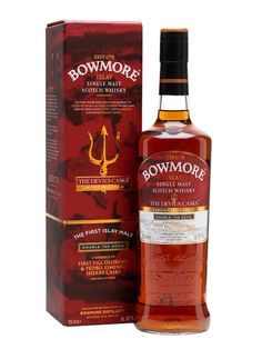 Bowmore The Devil's Casks III - Double The Devil Scotch Whisky : The Whisky Exchange Whiskey Or Whisky, Whiskey Drinks, Single Malt Whisky, Scotch Whiskey, Whiskey Lounge, Rum Bottle, Liquor Bottles, Bowmore Whisky, Fun Drinks