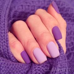 Make an original manicure for Valentine's Day - My Nails Purple Nail Art, Hot Pink Nails, Pastel Nails, Cute Acrylic Nails, Cute Nails, Purple And Pink Nails, Stylish Nails, Trendy Nails, Hair And Nails