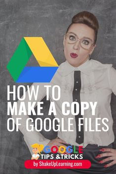 Do you love using edtech and Google in the classroom? If you do, learning how to make a copy of Google files IS A MUST-HAVE GOOGLE SKILL! Click here to learn how to make copies of Google Files! #google #edtech #education | shakeuplearning.com