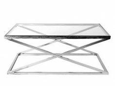 Salontafel Chroom Met Glas.Moderne Salontafel Ghost Glas Trapez 80x80cm 35533 Salon