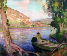 The Banks of the Seine at Andelys  Henri Lebasque -