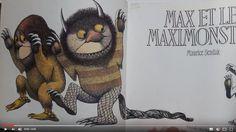 Histoire à écouter - Texte et AUDIO - Max et les Maximonstres - Max est un petit garçon pas très sage. Sa mère le prive de dîner et l'envoie dans sa chambre qui se transforme en une gigantesque forêt tropicale. La mer cogne à sa fenêtre. Et Max embarque vers le pays des