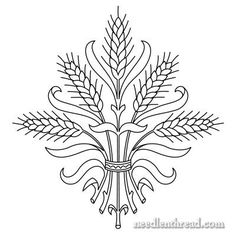 Wheat Hand Embroidery Pattern