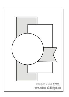 Image result for 2 rectangles and a circle card sketch