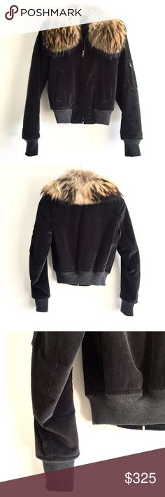 100%NWOT Theory Corduroy Bomber w/ Real Fur Collar Cozy dark brown corduroy bomber from Theory with a removable genuine fur collar. 100% never worn, great quality, and in brand new condition. (PLEASE NOTE: In the model photos the jacket is pictured in olive green but the jacket for sale is dark brown❣️) Theory Jackets & Coats