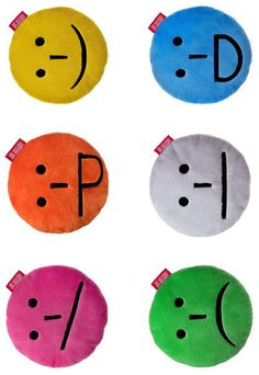 International Ridibundus - emoticon pillows!