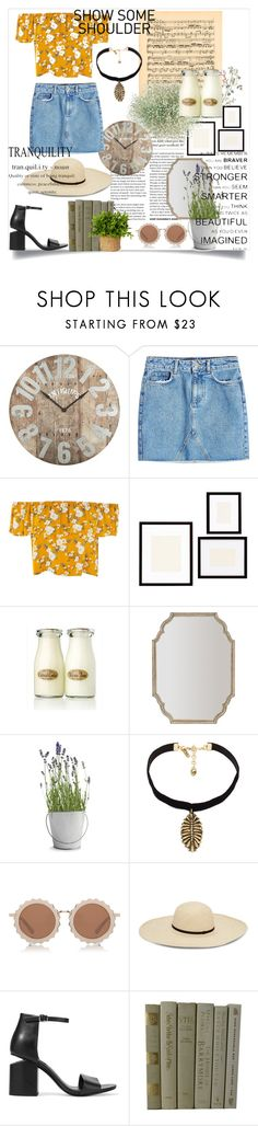 """""""Country Tranquility"""" by kwithaleigh ❤ liked on Polyvore featuring Pier 1 Imports, Anine Bing, Pottery Barn, Potting Shed Creations, Vanessa Mooney, House of Holland, Alexander Wang and country"""
