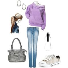 Cute Outfit - Luv Purple top <3