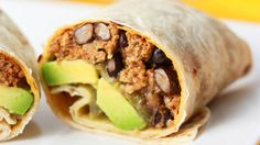 Turkey and Avocado Burrito - good for a quick weeknight dinner