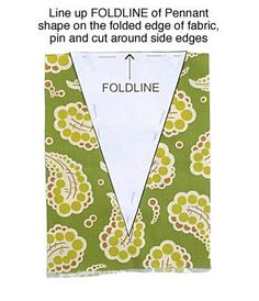 triangle pattern to make a pennant banner #sewing #banner #birthday