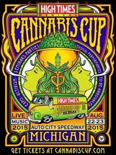 High Times Magazine -Cannabis Cup promo on Behance High Times Magazine, Time Magazine, Heavy Metal, Reggae Art, Marijuana Art, Weed Art, Stoner Art, Hippie Peace, Garage Art