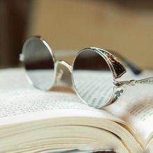 Punk do vapor redondos óculos de Metal mulheres lente círculo redondo óculos de sol 6 cores homens óculos Retro Vintage óculos Goggles(China (Mainland))