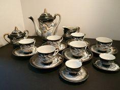 Beautiful Complete 21 Pieces Dragonware Tea Set. $130.00, via Etsy.