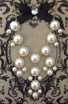 Perfect Pearls Bubble Necklace on Etsy, $14.00. For the bridesmaid who wants to make a statement
