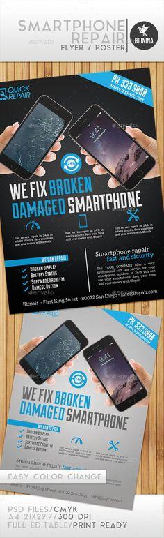 Smartphone Repair Flyer/Poster Template Download: http://graphicriver.net/item/smartphone-repair-flyerposter/9774892?ref=ksioks