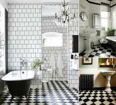 black and white vintage bathroom photos - saferbrowser yahoo image ... - Carrelage Salle De Bain Vintage