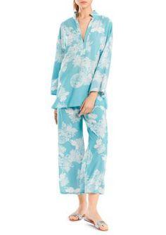 N Natori Light Blue Mandarin Pajama Set Pajama Set 6e0c50f2b