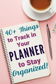 Things to Keep Track of In Your Planner - Planner Ideas! Have you jumped on the cute planner bandwagon? Put your new planner to use with this huge list of over 40 things to keep track of in your planner!