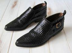 SIZE 9 1/2 M Vintage Enzo Angiolini Black Leather by 601VINTAGE, $89.00