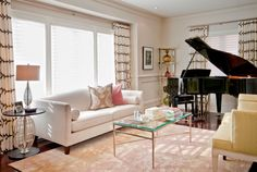 Placing a piano in living room adds a nice touch to your decor. We put together some of the best piano room ideas and what piano designs are available for you. Piano Living Rooms, Formal Living Rooms, Living Room Decor, Grand Piano Room, Piano Room Decor, Small Room Design, Family Room Design, Living Room Remodel, Living Room Inspiration