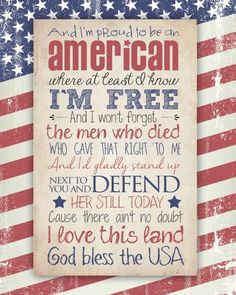 God Bless the USA Free Printable (two different versions available). Great for Memorial Day or 4th of July!