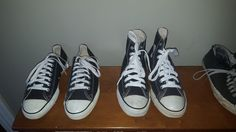 Made in U.S.A Converse All Star in high top and low top. Like Kurt wore 7398abbd745