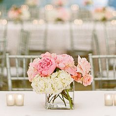 Wedding Table Centerpieces   Pale Pink Centerpiece   SouthernLiving.com