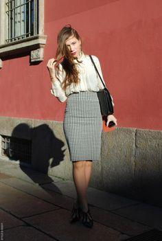 Flowy Top, Pen Skirt; SS