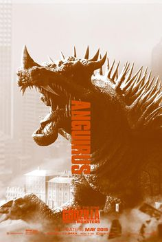 Godzilla King of the Monsters: Anguirus All Godzilla Monsters, Godzilla 2, Godzilla Franchise, Horror Movies, Marvel Movies, Strange Beasts, Drame, Monster Art, King Kong