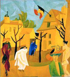 Лионель Фейнингер «Желтая улица II» 1918 г.