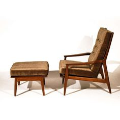 Milo Baughman Archie Chair & Ottoman | From a unique collection of antique and modern lounge chairs at http://www.1stdibs.com/furniture/seating/lounge-chairs/