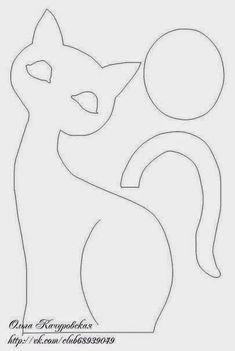motivos de gatos para patwork com molde - Pesquisa Google