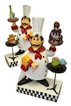 "Set of 2 Resin 10.5"" Distressed Fat French Chef Figurines... https://www.amazon.com/dp/B01DDT5SEC/ref=cm_sw_r_pi_awdb_x_qZhIzbWTQPE1M"