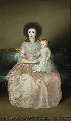 Francisco de Goya y Lucientes: Condesa de Altamira and Her Daughter, Maria Agustina (1975.1.148) by Francisco de Goya