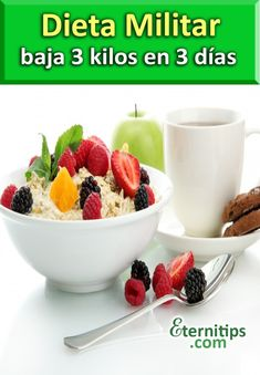 La Dieta Militar de los 3 dias es una combinación de alimentos nutritivos que…