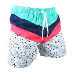 Aquatic Libations | Chubbies Men's Neon Splatter Paint Trunks – Chubbies Shorts