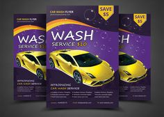 Car Wash Flyer Templates by AfzaalGraphics on @creativemarket