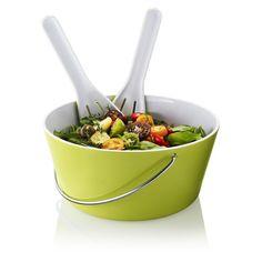 Schale mit Salatbesteck, Melamin