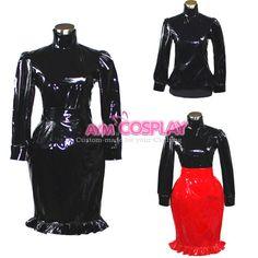 lockable sissy maid PVC vinyl  Outfit blouse-skirt Unisex  tailor-made [G388]   eBay