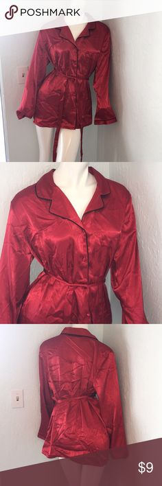 Enchanted Red Lingerie Enchanted Red Size : L  100% Polyester  -Button Down with string waistline   Colors may vary due to lighting, seller does its best to portray the right color. enchanted Intimates & Sleepwear Pajamas