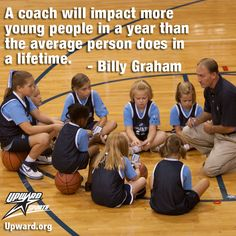 In kids sports, coaches make all the difference.  This is exactly why our kids do upward sports vs. other organizations!!