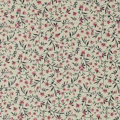 Tekstilvoksduk linlook m små blomster