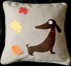 Handmade applique nursery cushion cover Jolly by NaturelandsAndCo, $30.00