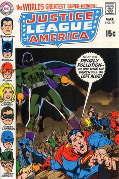 Justice League of America #79 (1960 series) - cover by Neal Adams