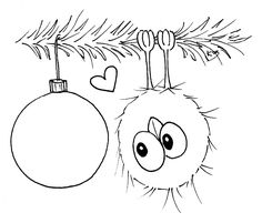 Hi everyone ♥ Time for some new Christmas spirit to be spread around them crafting spaces :) I love drawing but time just seems to fly . Christmas Doodles, Christmas Drawing, Christmas Coloring Pages, Christmas Colors, Christmas Art, Christmas Ornaments, Colouring Pages, Coloring Books, Crazy Bird