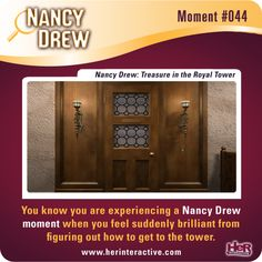 Nancy Drew moment from Treasure in the Royal Tower. Feeling smart when you figure this out! #NancyDrew #TRT #HerInteractive
