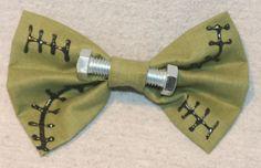 Frankenstien Halloween Zombie Hair bow by TheRubyPigdotcom on Etsy