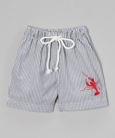 Look at this #zulilyfind! Charcoal Lobster Swim Shorts - Infant, Toddler & Girls by Sweet Dreams #zulilyfinds