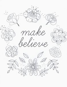 make believe embroidery pattern _ very truly me