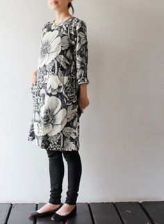 beautiful flower pattern / marimekko 'noia' dress this would be great with clogs!